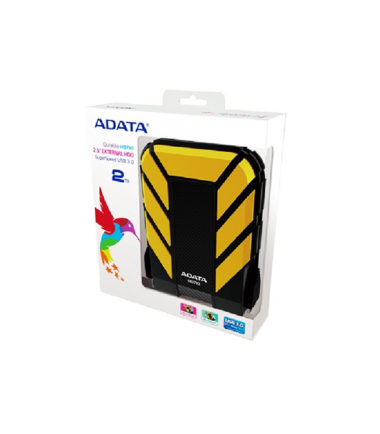 ADATA 2TB HDDADAHD710G YELLOW, Military-grade EXT HDD
