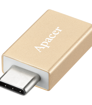 APACER USB Type-C to USB3.0 Type-A Adapter DA110 Gold