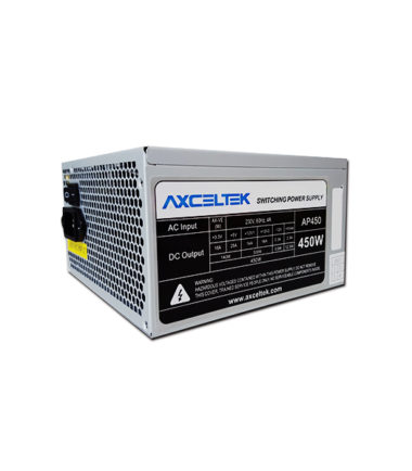 AXCELTEK AP450 450W POWER SUPPLY (12CM FAN, 4x SATA)
