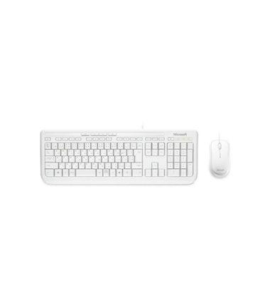 APB-00022 Microsoft *WHITE* Desktop 600 USB - KB + MOUSE