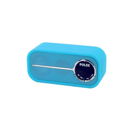 LASER BLUETOOTH SPEAKER WITH FM RADIO - BLUE