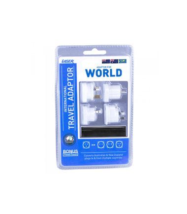 LASER Travel Adaptor 4pcs kit - Australian to Worldwide