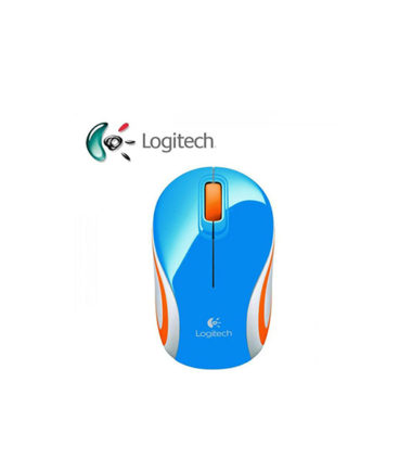 LOGITECH M187 BLUE MINI NOTEBOOK WIRELESS MOUSE (BLUE)
