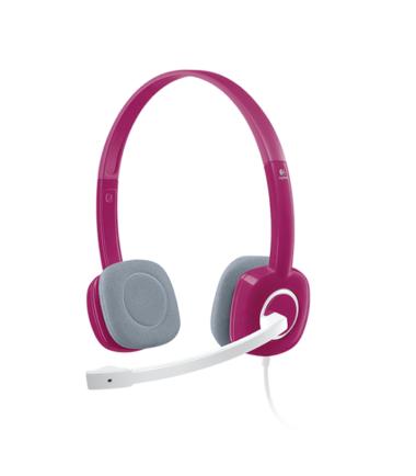 Logitech 981-000455 Stereo Headset H150 - Fuchsia Pink