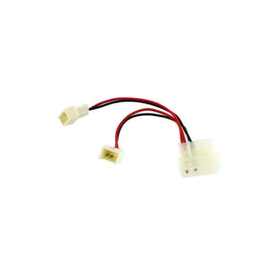 Molex (4 pin male) to Fan Cable (3 pin male)