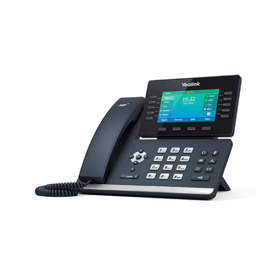 16 Line IP HD Phone, 4.3'' 480 x 272 colour screen, HD voice, Dual Gig Ports, Built in Bluetooth, WiFi via WF40, USB 2.0 Port