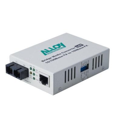 100Mbps Standalone/Rackmount Media Converter 100Base-TX (RJ-45) to 100Base-FX (SC), 2Km