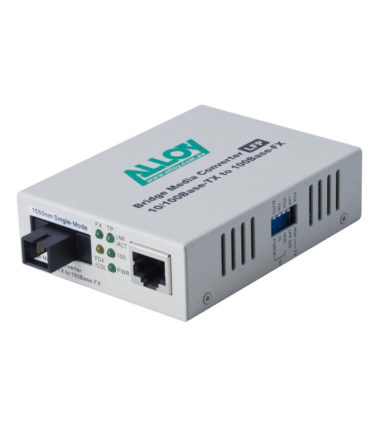 100Mbps Standalone/Rackmount Media Converter 100Base-TX to 100Base-FX 1310nm WDM, 20Km
