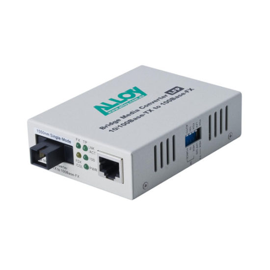 100Mbps Standalone/Rackmount Media Converter 100Base-TX to 100Base-FX 1550nm WDM, 80Km