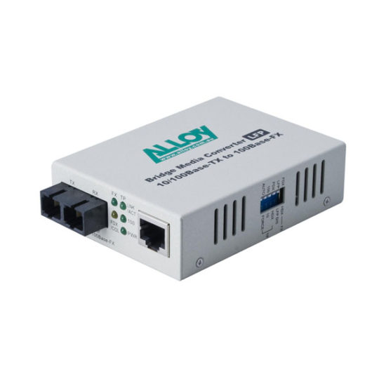 100Mbps Standalone/Rackmount Media Converter 100Base-TX to 100Base-FX (SC), 1550nm, 100Km