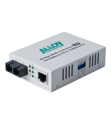 100Mbps Standalone/Rackmount Media Converter 100Base-TX to 100Base-FX (SC), 1550nm, 5Km
