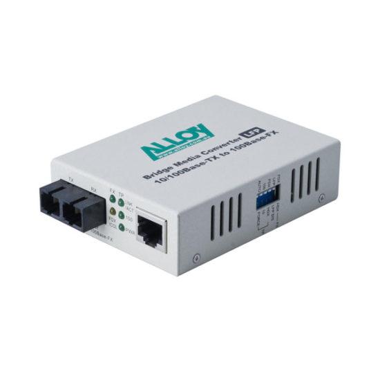 100Mbps Standalone/Rackmount Media Converter 100Base-TX to 100Base-FX (SC), 1550nm, 5Km