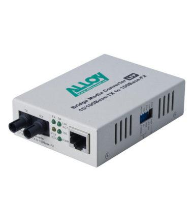 100Mbps Standalone/Rackmount Media Converter 100Base-TX (RJ-45) to 100Base-FX (ST), 2Km