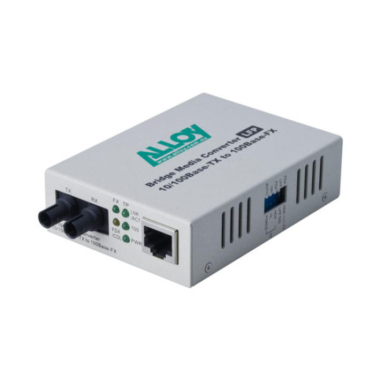 100Mbps Standalone/Rackmount Media Converter 100Base-TX (RJ-45) to 100Base-FX (ST), 2Km