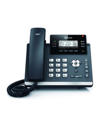 12 Line IP phone, 2.7''192x64 pixel graphical LCD with backlight, Dual Gigabit Ports, 6 Program keys/BLF/XML/HDV, 1x USB Port, Opus Support. (Power Adapter optional)