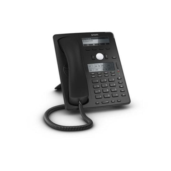 12 Line Professional IP Phone, Gbit port + 1x USB port. 4 context-sensitive function keys. Wideband audio