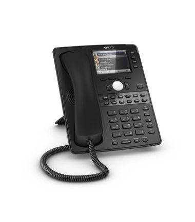 12 Line Professional IP Phone, Gbit port + 1x USB port. 4 context-sensitive function keys. Wideband audio