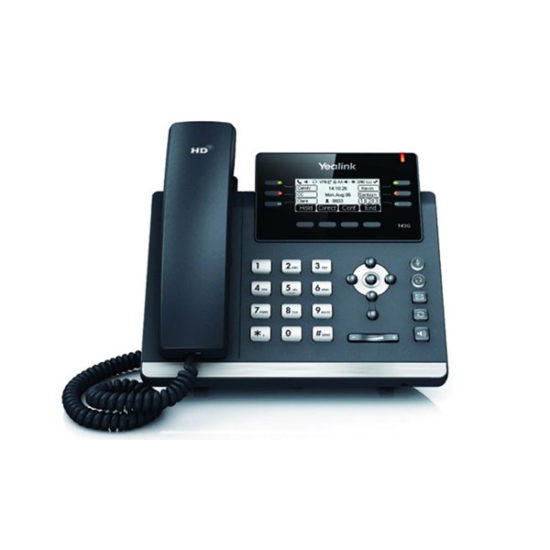 6 Line IP phone, 2.7''192x64 pixel graphical LCD with backlight, 2x 10/100 Ports, 6 Program keys/BLF/XML/HDV, 1x USB Port, Opus Support. (Power Adapter optional)