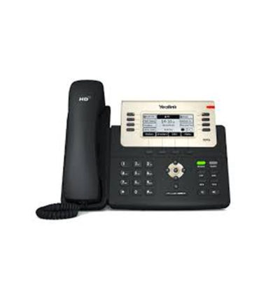 6 Line IP phone, 240x120 LCD, 21 Program keys/BLF/XML/PoE/HDV/EHS support/Dual Gigabit Ports. No Power Adapter included