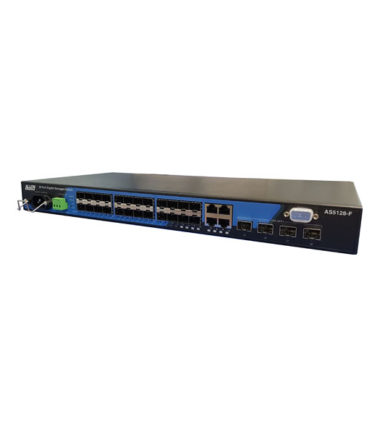 28 Port Layer 3 Lite Managed Fibre Switch with 24x 100/1000Mb SFP Ports + 4 paired 10/100/1000Mbps Copper Ports + 4x 1Gb/10GbE SFP Ports