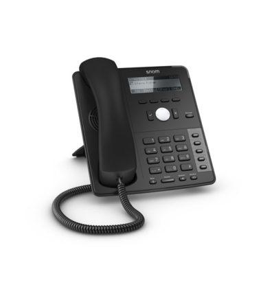 4 Line Professional IP Phone, Gbit port + 1x USB port. 4 context-sensitive function keys. Wideband audio