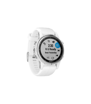 Garmin Fenix 5S Plus Sapphire, Rose with Leather White Band