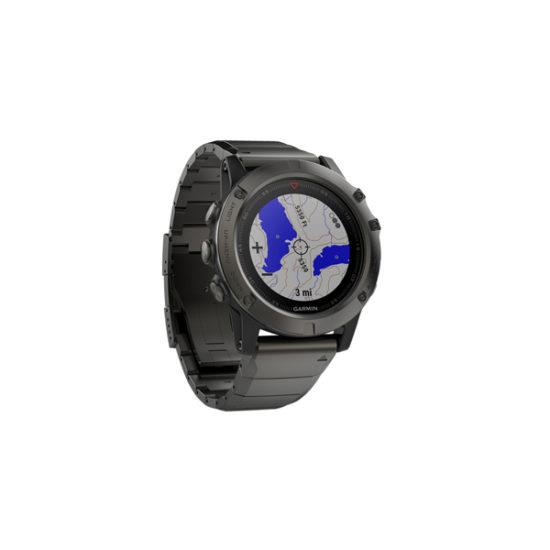 Garmin Fenix 5X Sapphire slate gray with black band, 010-01733-10