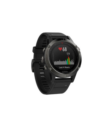 Garmin fenix 5 Multi-Sport Training GPS Watch (Slate Gray, Black Band)