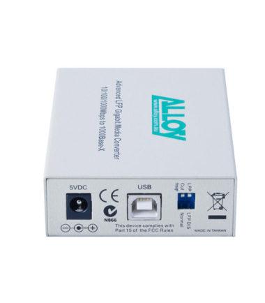 Gigabit Standalone/Rackmount Media Converter 1000Base-T (RJ-45) to 1000Base-SX (ST), 550m