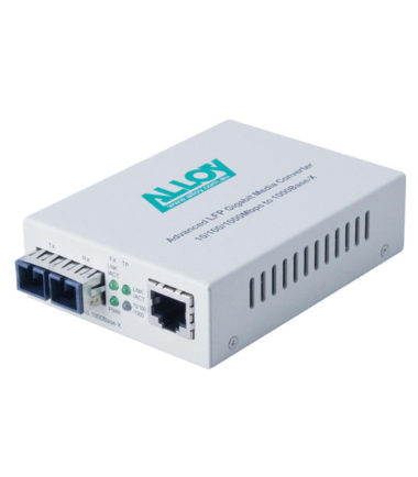 Gigabit Standalone/Rackmount Media Converter 1000Base-T (RJ-45) to 1000Base-ZX (LC), 50Km
