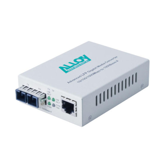 Gigabit Standalone/Rackmount Media Converter 1000Base-T (RJ-45) to 1000Base-ZX (LC), 50Km