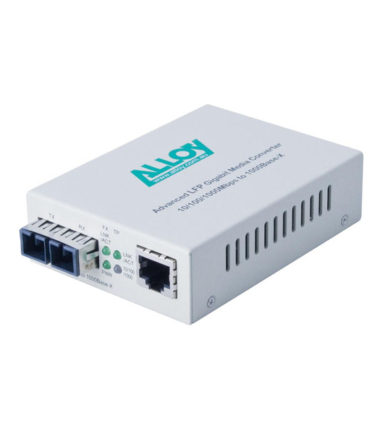 Gigabit Standalone/Rackmount Media Converter 1000Base-T to 1000Base-LX 1550nm WDM, 20Km