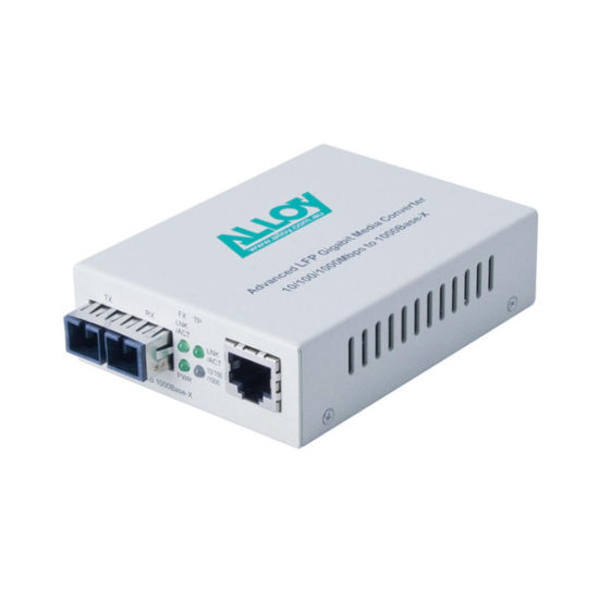 Gigabit Standalone/Rackmount Media Converter 1000Base-T (RJ-45) to 1000Base-LX (SC), 10Km