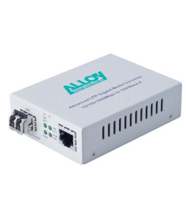 Gigabit Standalone/Rackmount Media Converter 1000Base-T (RJ-45) to 1000Base-X SFP