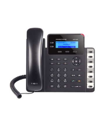 HD POE IP Phone 132x48 LCD, 2 lines, Dual Gigabit Ports, 3 program keys, 8 BLF, EHS