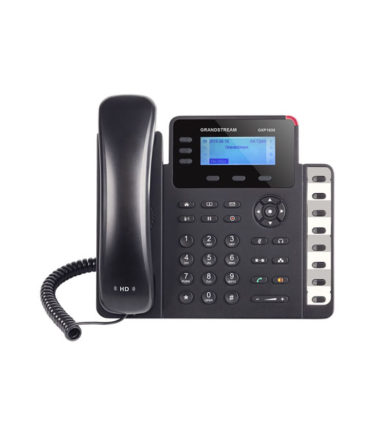 HD PoE IP Phone 132x64 LCD, 3 lines, Dual Gigabit Ports, 3 program keys, 8 BLF, EHS
