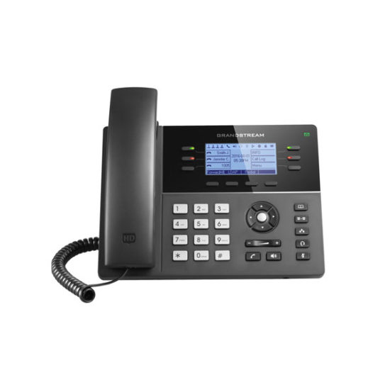 HD PoE IP Phone 200x80 LCD, 6 lines, Dual Gigabit Ports, 4 program keys, 8 BLF, EHS
