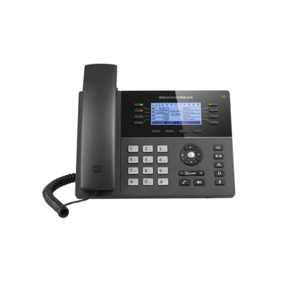 HD PoE IP Phone 200x80 LCD, 8 lines, Dual Gigabit Ports, 4 program keys, 32 BLF, EHS