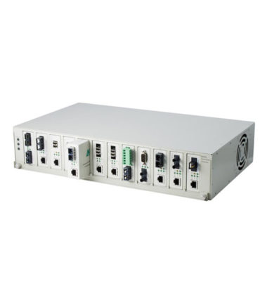 Media Converter Chassis, 12 Slot with Dual Redundant 48v DC Power Modules