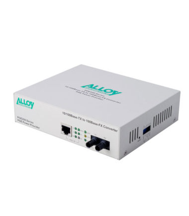 PoE PSE Gigabit Ethernet Media Converter 1000Base-T to 1000Base-LX (LC), LFP, 10Km
