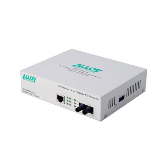 PoE PSE Gigabit Ethernet Media Converter 1000Base-T to 1000Base-SX (LC), LFP, 550m