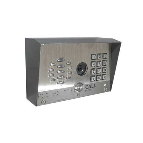SIP-enabled h.264 Video Outdoor Intercom with Keypad
