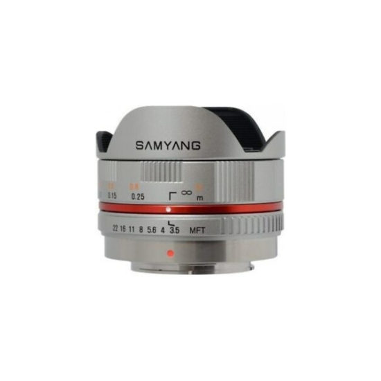 Samyang 7.5mm T3.8 Cine (Micro Four Thirds, silver)