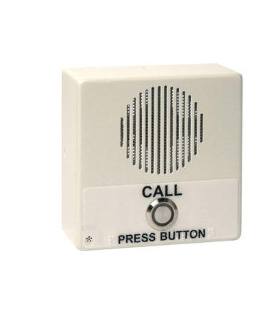 Single Button IP Intercom/Access Controller Indoor Case, PoE, Signal White Housing