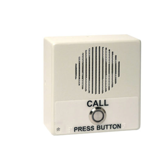 Single Button IP Intercom/Access Controller Indoor Case, PoE, Signal White Housing
