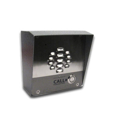 Single Button VoIP IntercomAccess Controller PoE Powered with IP64 Rated Steel Case