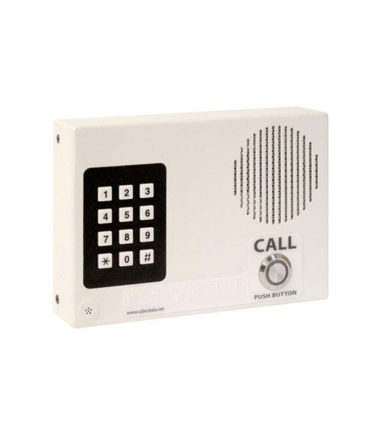 Single Button Wall Mounted VoIP Intercom with Keypad, PoE and Signal White Housing
