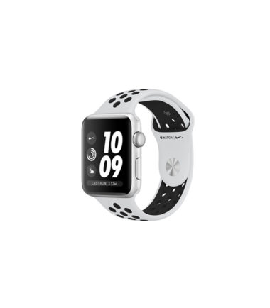 Apple Watch Nike+ Series 4 (GPS Only, 40mm, Silver Aluminum, Pure PlatinumBlack Nike Sport Band) (MU6H2)