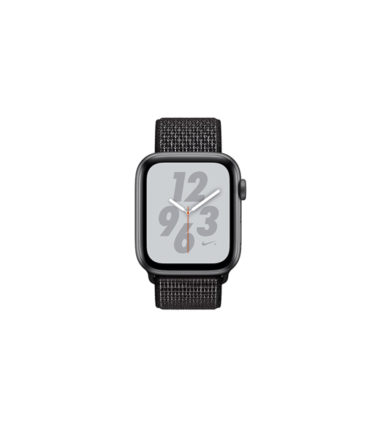 Apple Watch Nike+ Series 4 (GPS Only, 44mm, Gray Aluminum Case, Black Sport Loop) (MU7J2)