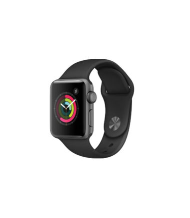 Apple Watch Series 2 38mm Grey Alumnium Case With Black Sport Band MP0D2